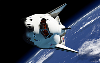 Rendering of SNC's Dream Chaser in Orbit