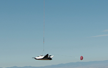 SNC's Dream Chaser Suspended During Captive Carry Test at NASA's Dryden Flight Research Center