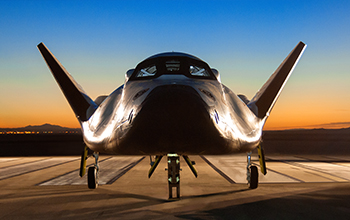 SNC's Dream Chaser On Runway at NASA's Dryden Flight Research Center at Dawn