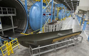 SNC's Dream Chaser orbital structural airframe at Lockheed Martin in Ft. Worth, Texas