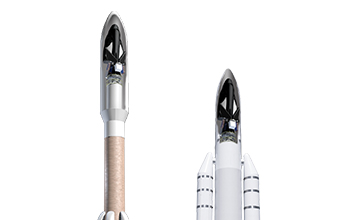 Rendering of SNC's Uncrewed Dream Chaser Compatible with Atlas V and Ariane 5