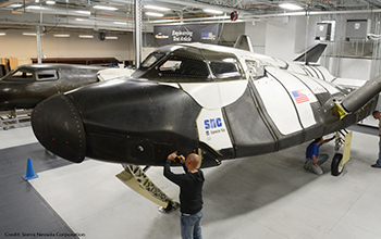 SNC Technicians Inspect the Dream Chaser ETA