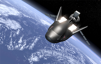 Rendering of In Orbit Separation of SNC's Dream Chaser Spacecraft from the Cargo Module