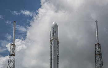 ORBCOMM Capsule Atop Falcon 9 Rocket at Launchpad 1