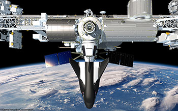 Dream Chaser Berthed to ISS - close up (2)