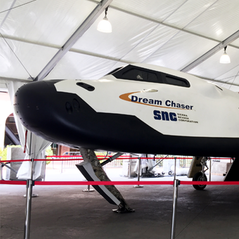 SNC Dream Chaser on display at Space Symposium