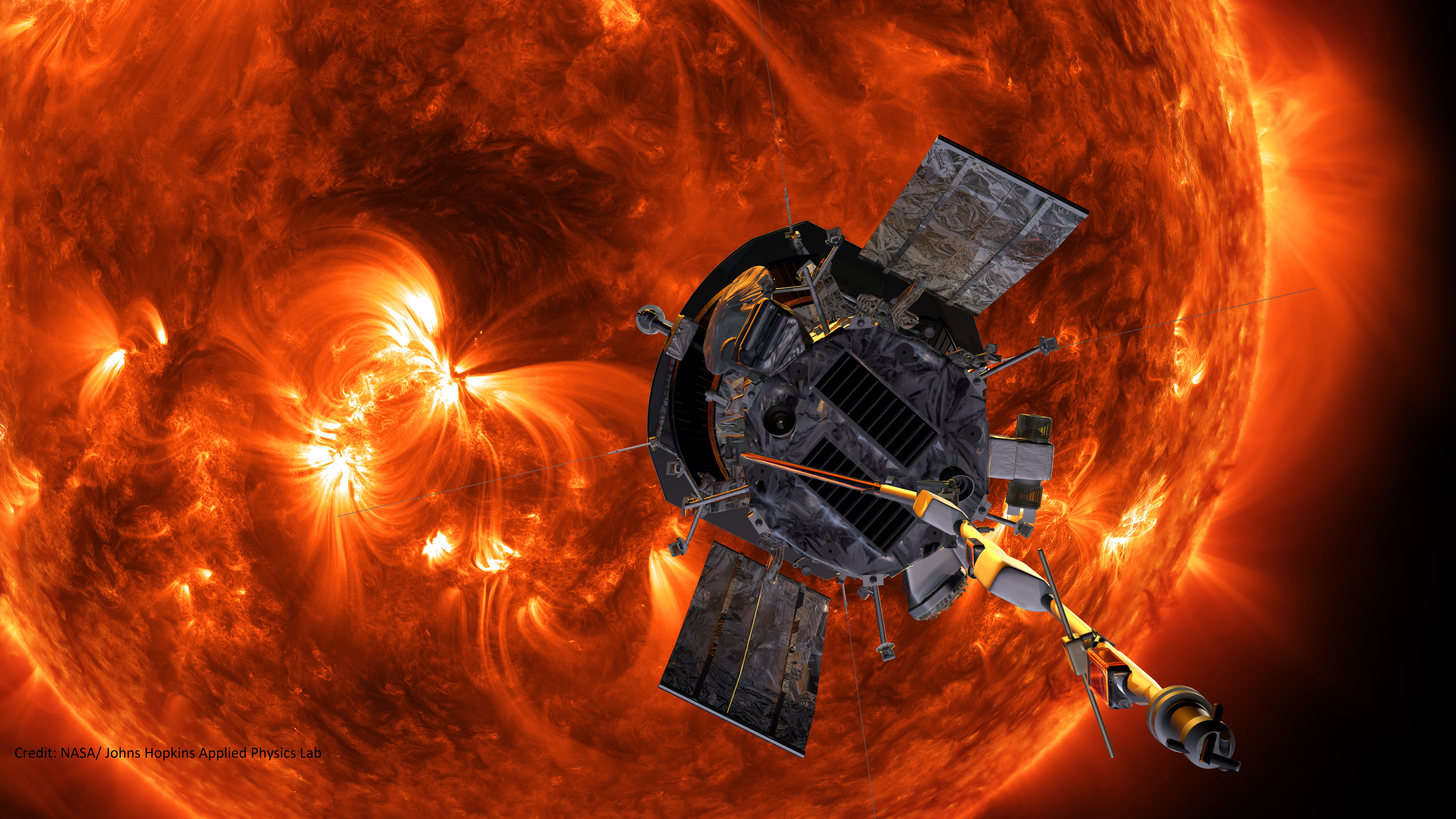 Parker Solar Probe - Credit NASA/John Hopkins Applied Physics Lab