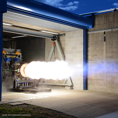 SNC Test-Fires Next-Gen Rocket Engine